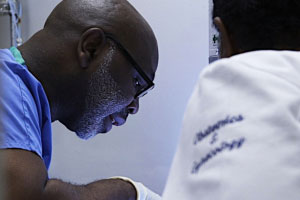 Still from TRAPPED, showing Dr. Parker, one of the main characters of the film.